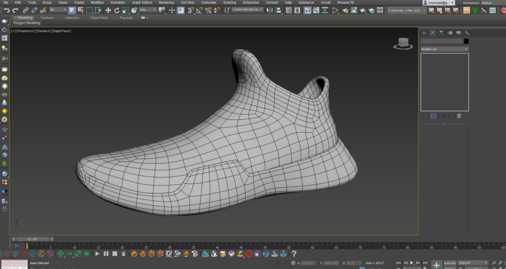 Substance Painter Displacement Footwear 1Design by Hussain Almossawi